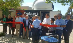 Mobile observatory ribbon cutting